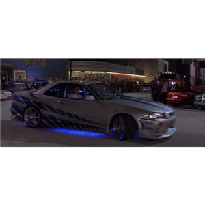 Fast & Furious Brian's 1999 Nissan Skyline Gt-R 1:24 Die Cast Car Custom Museum Display