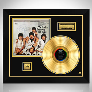 The Beatles Butcher Limited Signature Edition Studio Licensed Gold LP Custom Frame