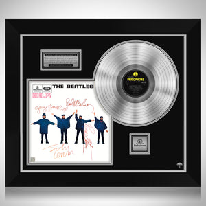 The Beatles Help Limited Signature Edition Studio Licensed Platinum LP Custom Frame