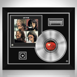 The Beatles Let it be Limited Signature Edition Studio Licensed Platinum LP Custom Frame