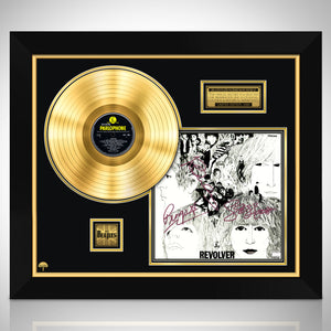 The Beatles Revolver Limited Signature Edition Studio Licensed Gold LP Custom Frame