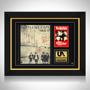 The Beatles A Hard Day's Night Script Limited Signature Edition Studio Licensed Custom Frame