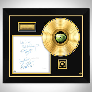 The Beatles White Album No.0000001 Limited Signature Edition Studio Licensed Gold LP Custom Frame B