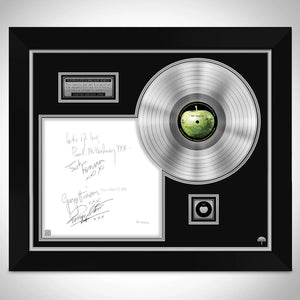 The Beatles White Album No.0000001 Platinum LP Limited Signature Edition Studio Licensed Custom Frame B