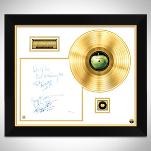 The Beatles White Album No.0000001 Gold LP Limited Signature Edition Studio Licensed Custom Frame