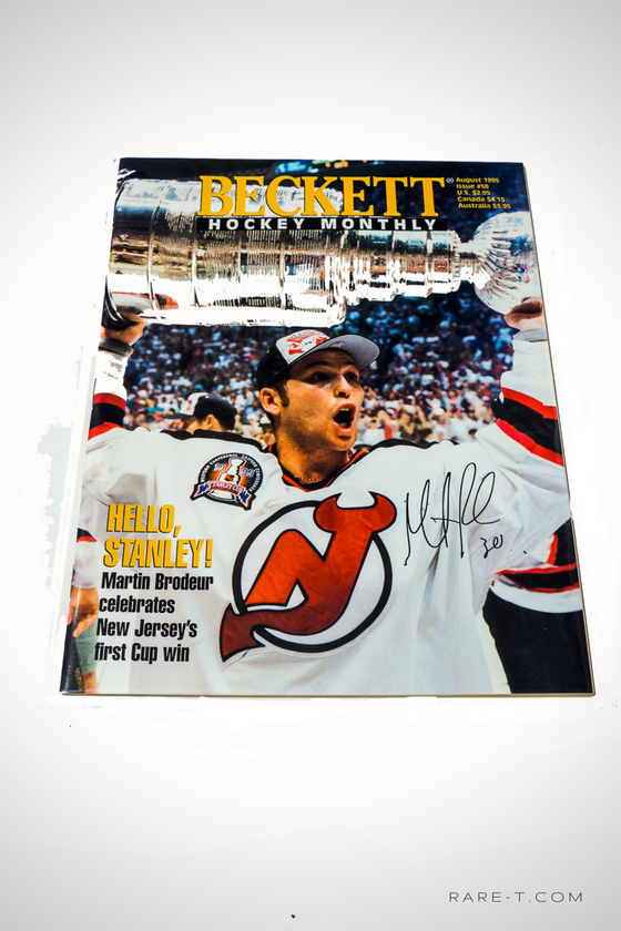 'HANDSIGNED BECKETT MAGAZINE BY MARTIN BRODEUR'