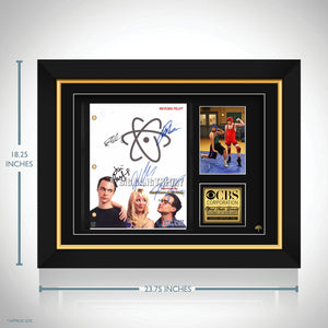 Big Bang Theory Script Limited Signature Edition Studio Licensed Custom Frame