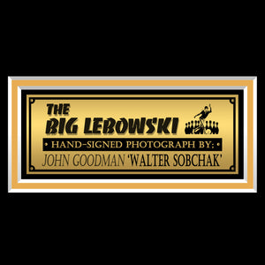 The Big Lebowski- 'The Dude & Walter' Beckett Certified Hand-Signed Photo By John Goodman Frame