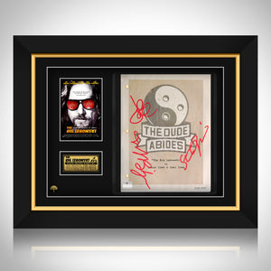 Big Lebowski - Hand-Signed Script By Jeff Bridges + Steve Buscemi + John Goodman Custom Frame
