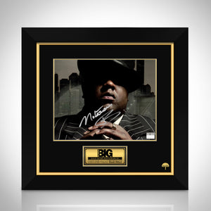 The Notorious B.I.G Hand-Signed Photo By Christopher Wallace 'Biggie Smalls' Photo Custom Frame