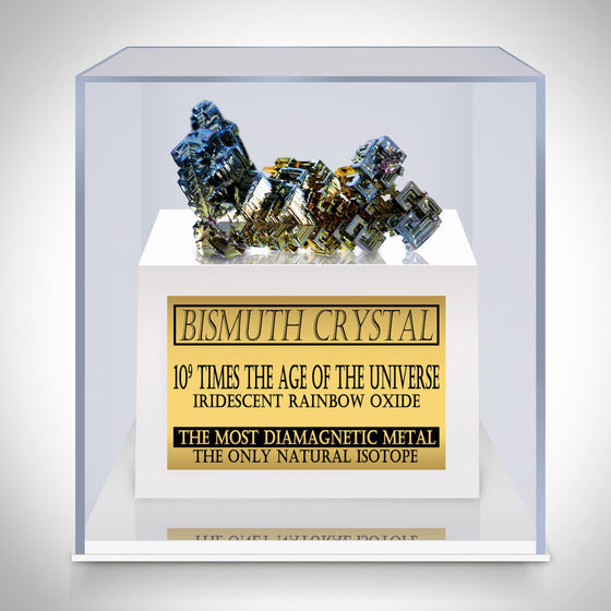 BISMUTH Authentic CRYSTAL MUSEUM DISPLAY