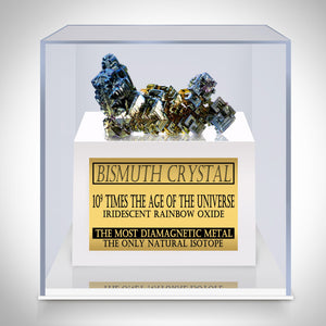 Bismuth Authentic Crystal Custom Museum Display