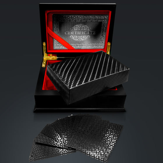 Obsidian Carbonite Playing Cards Herringbone Design