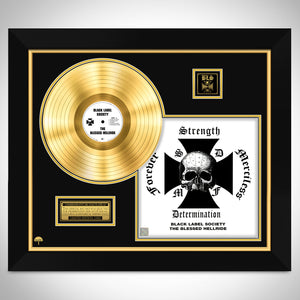 Black Label Society 'The Blessed Hellride' Limited Edition Studio Licensed Gold LP Custom Frame