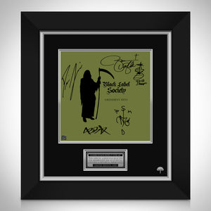 Black Label Society - Grimmest Hits Limited Signature Edition Studio Licensed LP Cover Custom Frame