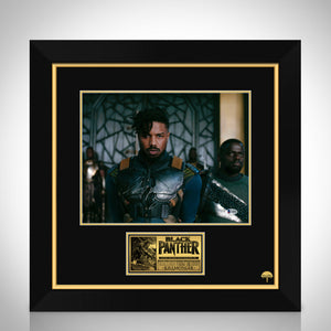Black Panther- Beckett Certified Hand-Signed Photo By Michael B. Jordan Custom Frame