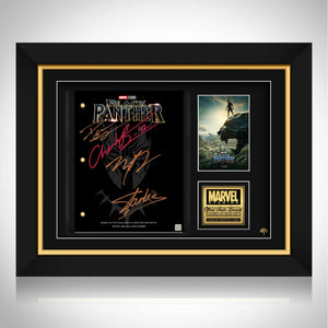 Black Panther Script Limited Signature Edition Studio Licensed Custom Frame