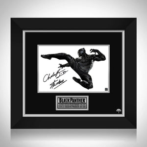 Black Panther Jump Kick Photo Limited Signature Edition Studio Licensed Custom Frame