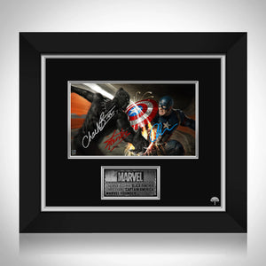 Black Panther Vs Captain America Photo Limited Signature Edition Studio Licensed Custom Frame