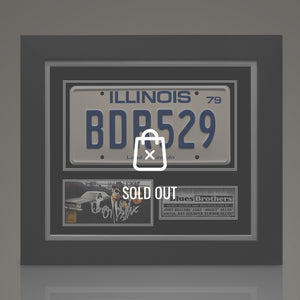 BLUES BROTHERS - Hand-Signed Licensed plate by John Belushi & Dan Aykroyd Custom Frame