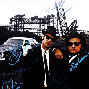Blues Brothers- Cast Hand-Signed Poster Custom Frame.