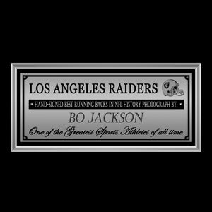 Los Angeles Raiders- Hand-Signed Photo By #34 Bo Jackson Custom Frame