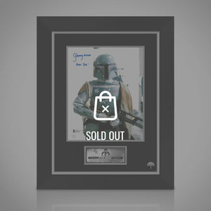 Star Wars- 'Boba Fett' Beckett Witness Certified Hand-Signed Photo By Jeremy Bulloch Custom Frame