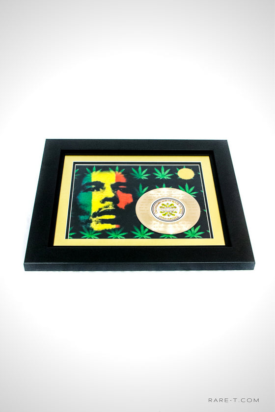 RARE-T Exclusive | 'BOB MARLEY - GET UP, STAND UP LYRICS' GOLD 45