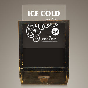 Ice Cold Beer // Sign And Bottle Opener