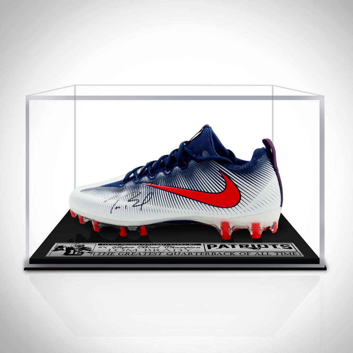 Tom Brady- Hand-Signed Football Cleat Custom Display