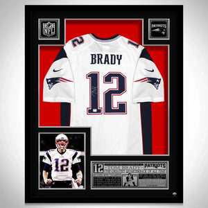New England Patriots 'Super Bowl Li Champions' Hand-Signed Jersey By #12 Tom Brady Custom Frame