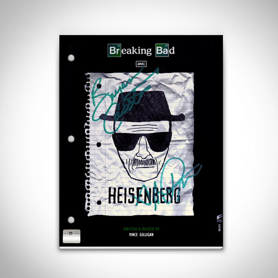 RARE-T Exclusive Limited Edition 'BREAKING BAD - SCRIPT' Custom Frame
