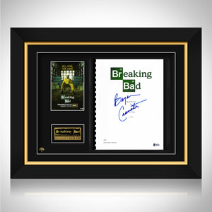 Breaking Bad - Beckett Certified Hand-Signed Pilot Script by Bryan Cranston Custom Frame