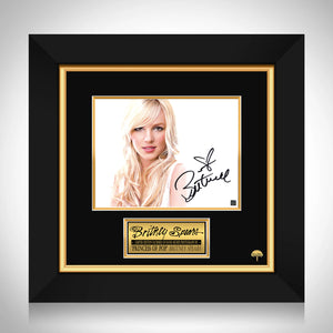 Britney Spears Limited Signature Edition Studio Licensed Photo Custom Frame