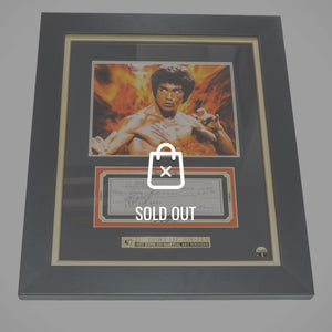 Bruce Lee - Signature Edition Check Rare-T Exclusive Limited Edition Custom Frame