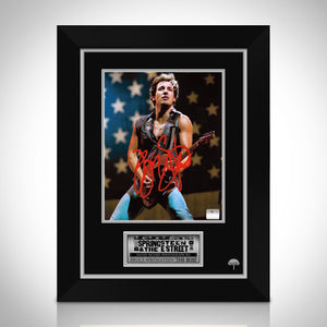 Bruce Springsteen On Stage- Hand-Signed Photo By Bruce Springsteen Custom Frame