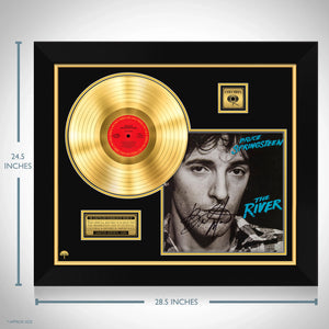 Bruce Springsteen The River Gold LP Limited Signature Edition Studio Licensed Custom Frame