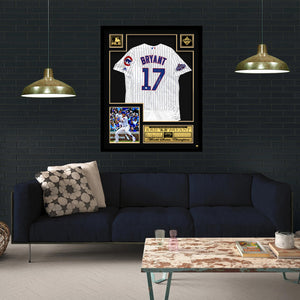 Kris Bryant 'Chicago Cubs' Hand-Signed World Series Jersey By Kris Bryant Custom Frame
