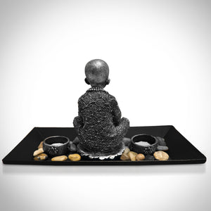 Young Buddha Fine Art Statue with Tea Light Tray