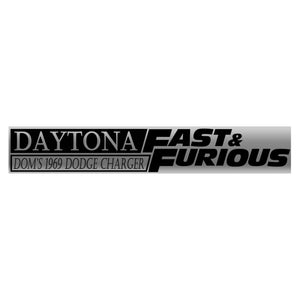 Fast & Furious 6 Dom's 1969 Daytona Dodge Charger 1:18 Die Cast Car Custom Museum Display