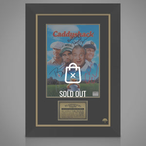 Caddyshack- Cast Hand-Signed Mini Poster Custom Frame
