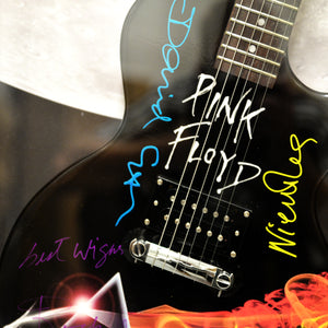 Pink Floyd Band - Dark Side Of The Moon Band Handsigned Guitar Rare-T Exclusive Custom Frame