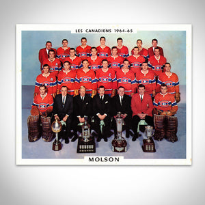 Montreal Canadiens- 1964-1965 Vintage Official Team Photograph Custom Frame