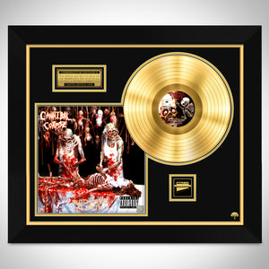 Cannibal Corpse 'Butchered at Birth' Limited Edition Studio Licensed Gold LP Custom Frame