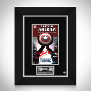 Captain America Who Won't Wield The Shield? #1 - Stan Lee Limited Signature Edition Comic Book Cover Art Custom Frame