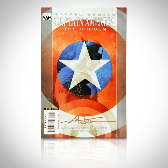 'CAPTAIN AMERICA: THE CHOSEN #1 - HANDSIGNED BY MITCH BREITWEISER' Comic Book