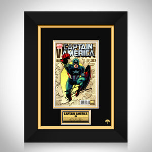 Captain America (2011) #1 Hand-Signed Comic Book By Stan Lee Custom Frame