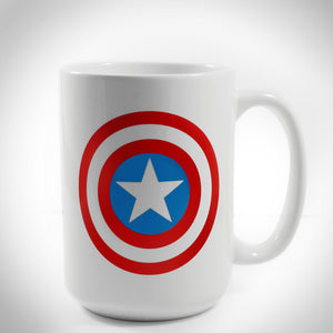 Captain America- Shield Logo Officially Licensed Marvel Coffee  Mug