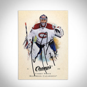 Montreal Canadiens- Carey Price Hand-Signed Upper Deck 2008-09 Champ's Hockey Card