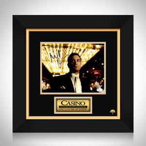 Casino- Jsa Certified Hand-Signed Photo By Robert De Niro Custom Frame